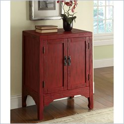 Coaster Accent Cabinet with 2 Doors in Rustic Red