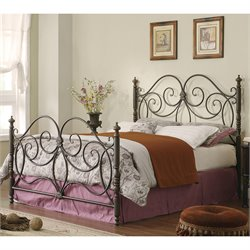 Coaster Queen Iron Headboard and Footboard in Dark Bronze