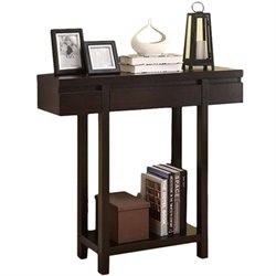 Coaster Modern Entry Table with Lower Shelf in Cappuccino