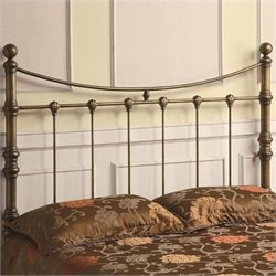 Coaster Queen Iron Headboard in Antique Gold