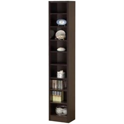 Coaster Narrow Bookcase in Cappuccino