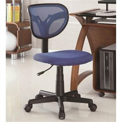 Coaster Mesh Adjustable Height Task Chair in Blue
