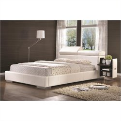 Coaster Maxine Leather Upholstered Bed in White