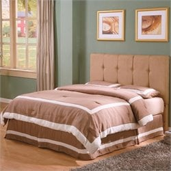 Coaster Lewis Queen Tufted Panel Headboard in Tan