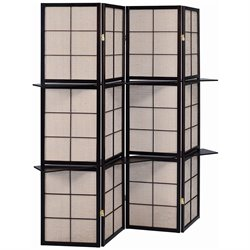 Coaster 4 Panel Folding Screen in Cappuccino