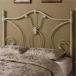 Coaster Full and Queen Metal Headboard in White