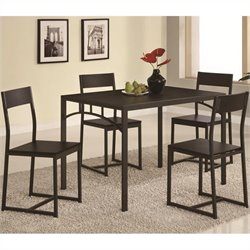 Coaster Dinettes Chic 5 Piece Dining Set in Cappuccino