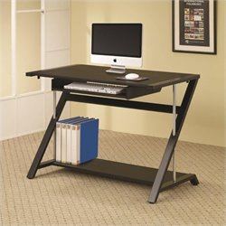 Coaster Contemporary Computer Desk in Black