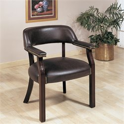 Coaster Upholstered Office Guest Chair with Nailhead Trim in Burgundy