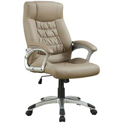 Coaster Upholstered Executive Office Chair in Beige