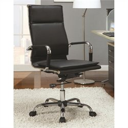Coaster High Back Executive Chair in Black