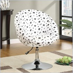 Coaster Accent Chair with Dalmatian Pattern in White and Black