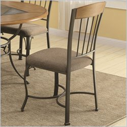 Coaster Dining Side Chair with Metal Legs in Medium Oak