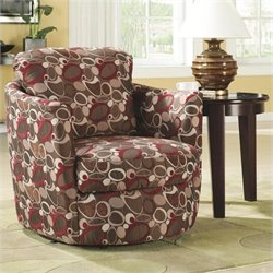Coaster Swivel Oblong Pattern Upholstered Chair