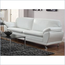 Coaster Robyn Bonded Leather Sofa in White
