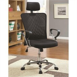 Coaster Air Mesh Executive Office Chair in Black
