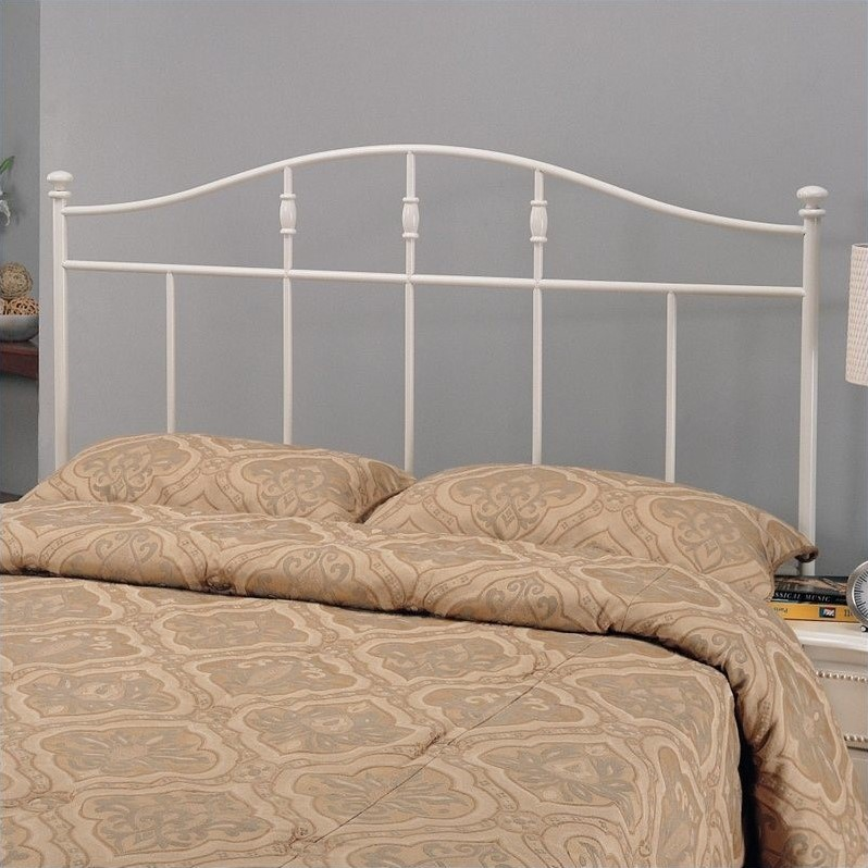 Full and Queen Metal Headboard in Cottage White