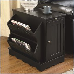 Coaster Cabinet Table with Magazine Rack in Black