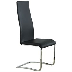 Coaster Dining Chair with Chrome Legs in Black