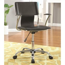 Coaster Adjustable Height Task Office Chair in Black