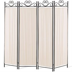 Coaster 4 Panel Room Divider with Butterfly Decor in Black