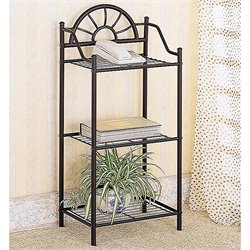 Coaster Sunburst Metal Accent Table in Black