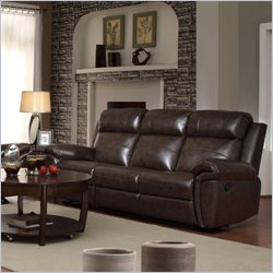 Coaster Gideon Transitional Styled Reclining Motion Sofa in Brown