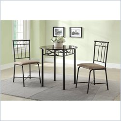 Coaster Slater 3 Piece Faux Marble Top Table Set in Silver Gray