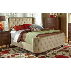 Coaster Upholstered Queen Bed in Tan
