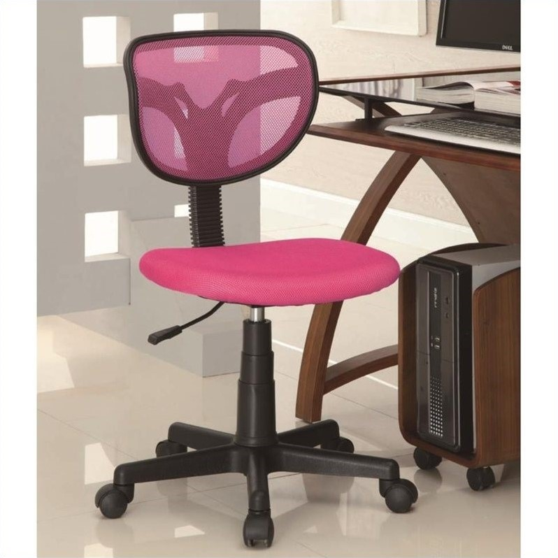 Mesh Adjustable Height Task Chair in Pink