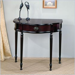 Coaster Curved Entry Table with Front Storage Drawer in Cherry