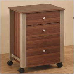 Coaster Carmen Mobile File Cart in Walnut