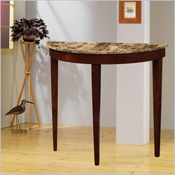 Coaster Faux Marble Top Entry Table in Cherry
