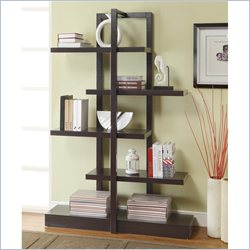 Coaster Modern Bookshelf with Inverted Supports in Cappuccino