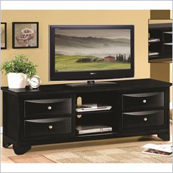Coaster TV Stand with Chambered Drawer Fronts in Black