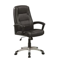 Coaster Adjustable Executive Office Chair in Black