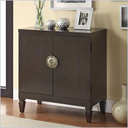 Coaster 2 Door Accent Cabinet in Cappuccino