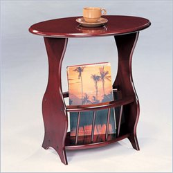 Coaster Magazine Table in Cherry