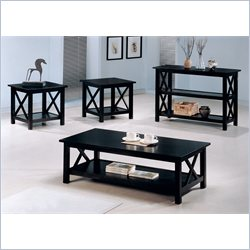 Coaster Casual 4 Piece Occasional Table Set in Deep Cappuccino