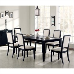 Coaster Lexton Transitional 8 Piece Dining Set in Black