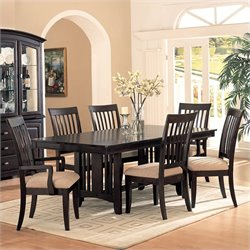 Coaster Monaco 8 Piece Dining Set in Cappuccino