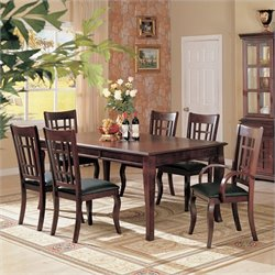 Coaster Newhouse 8 Piece Dining Set in Cherry
