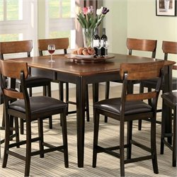 Coaster Franklin Counter Height Dining Table in Brown