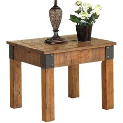 Coaster End Table in Rustic Oak