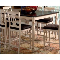 Coaster Camille Counter Height Dining Table in Antique White and Merlot