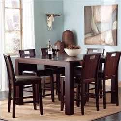 Coaster Prewitt Contemporary Counter Height Dining Table in Deep Espresso
