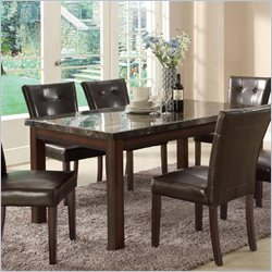 Coaster Milton Dining Table with Marble Top in Cappuccino