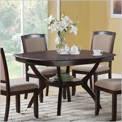 Coaster Memphis Rounded Square Dining Table in Cappuccino