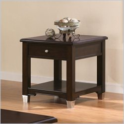 Coaster Liberty Transitional End Table in Brown Walnut