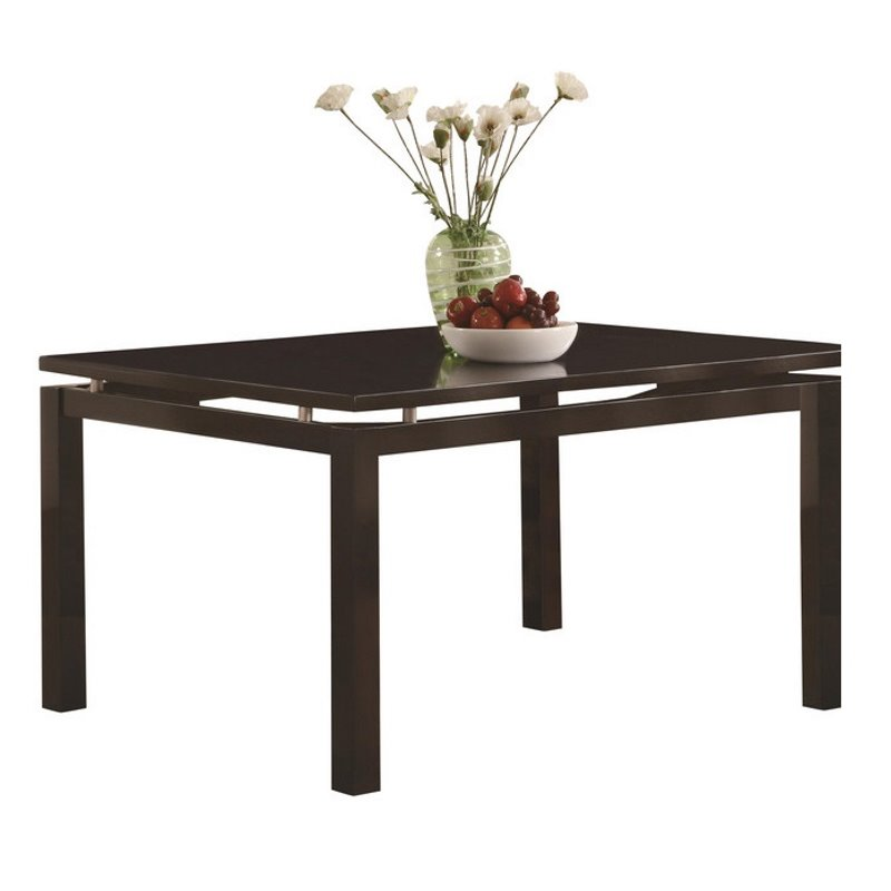 Coaster Libby Rectangular Dining Table with Floating Top in Cappuccino